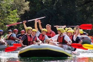 Rafting on the Cetina